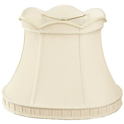 Timeless 12 Silk/Shantung Bell Lamp Shade Color: Antique Gold/Off-White