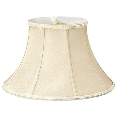 Timeless 18 Silk/Shantung Bell Lamp Shade Color: Beige