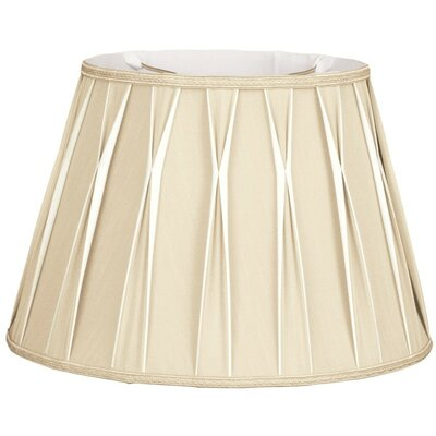 Timeless 16 Silk/Shantung Empire Lamp Shade Color: Beige/Off-White