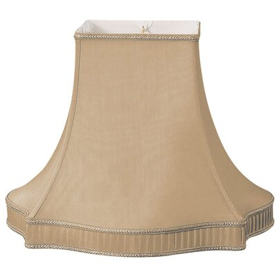 Timeless 16 Silk/Shantung Bell Lamp Shade Color: Antique Gold/Off-White