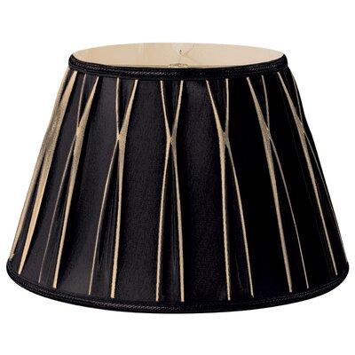 Timeless 14.5 Silk/Shantung Empire Lamp Shade Color: Black/Gold