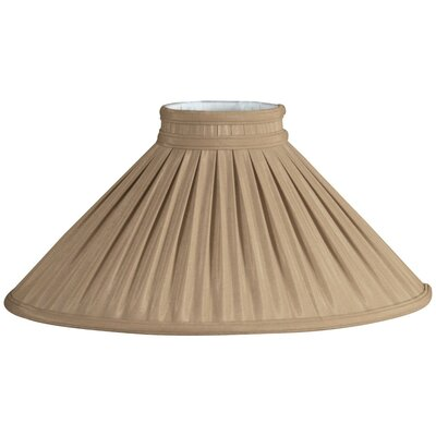 Timeless 18 Silk/Shantung Empire Lamp Shade Color: Brown/Gold