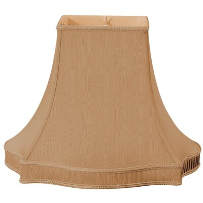 Timeless 16 Silk/Shantung Bell Lamp Shade Color: Brown/Gold