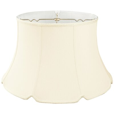 Timeless 17 Silk/Shantung Bell Lamp Shade Color: Beige