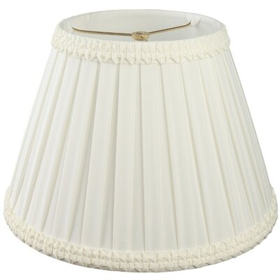Timeless 12 Silk/Shantung Empire Lamp Shade Color: White/Off-White
