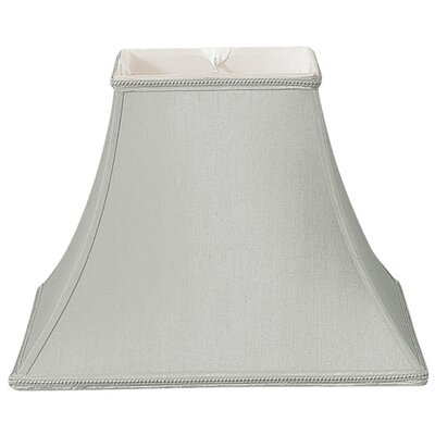 Timeless 14 Silk/Shantung Bell Lamp Shade Color: Gray