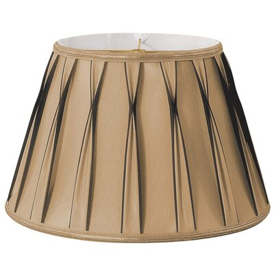 Timeless 14.5 Silk/Shantung Empire Lamp Shade Color: Antique Gold/Off-White