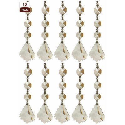 10 Pack Chandelier Replacement Crystal Prisms French Maple Leaf Three Bead Clear Finish: Chrome