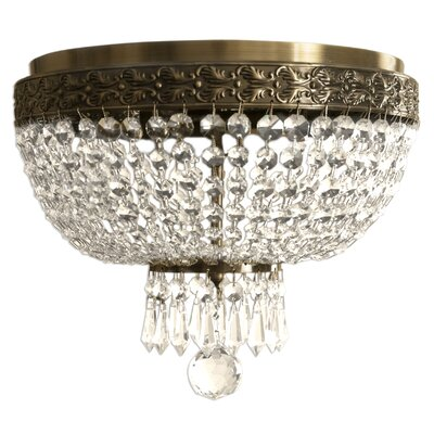 Crystal 12 Flush Mount Finish: Antique Brass