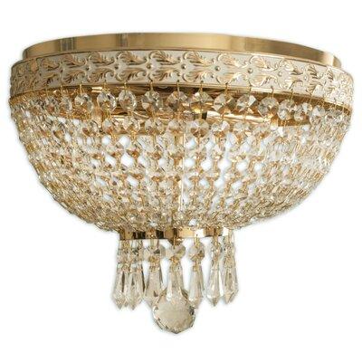 Crystal 12 Flush Mount Finish: Polished Brass