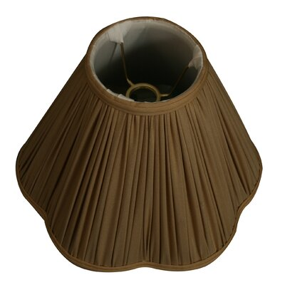 Timeless Scallop 13 Silk Novelty Lamp Shade Color: Antique Gold