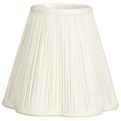Timeless Scallop 13 Silk Empire Lamp Shade Color: White