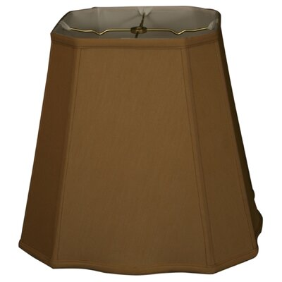 Timeless 15 Silk Empire Lamp Shade Color: Black/Off White