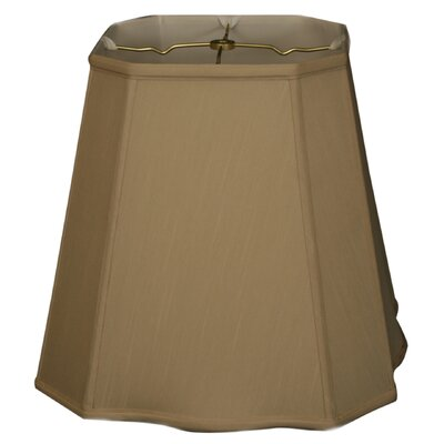 Timeless 12 Silk Empire Lamp Shade Color: Beige/Gold