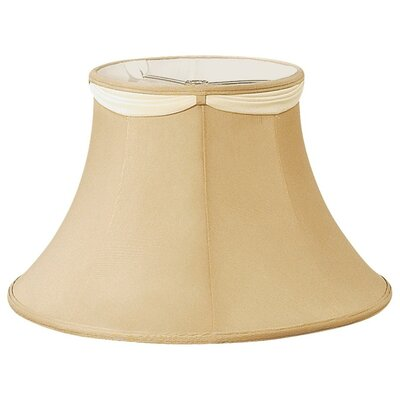 Timeless 16 Silk/Shantung Bell Lamp Shade Color: Gypsy Gold