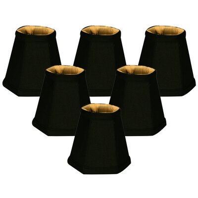 5 Shantung Empire Candelabra Shade Color: Black/Gold