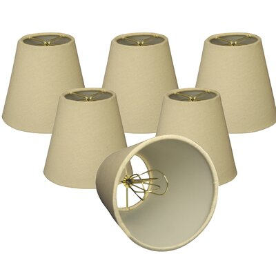 6 Linen Empire Lamp Shade Color: Beige