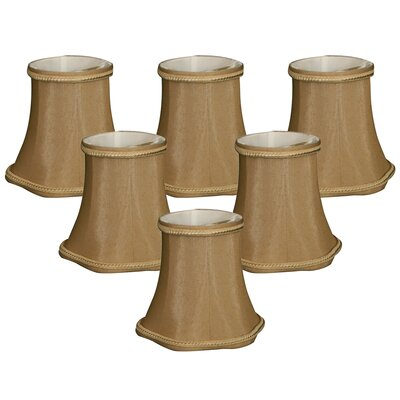 5 Shantung Bell Candelabra Shade Color: Antique Gold