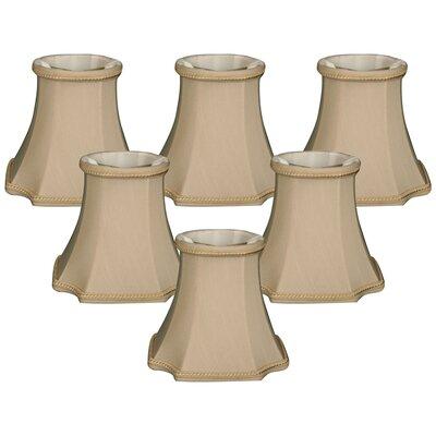 5 Shantung Bell Candelabra Shade Color: Beige
