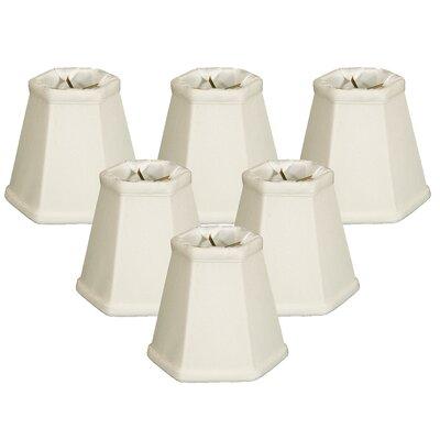 5 Shantung Empire Candelabra Shade Color: White