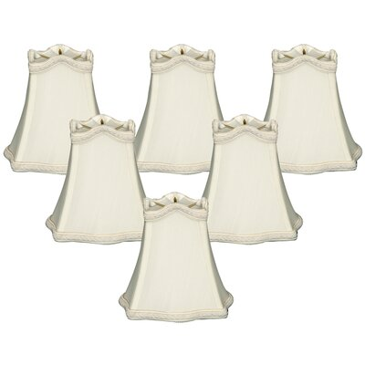 5 Shantung Bell Candelabra Shade Color: White