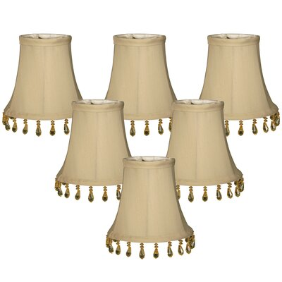 5 Silk Bell Candelabra Shade Color: Beige
