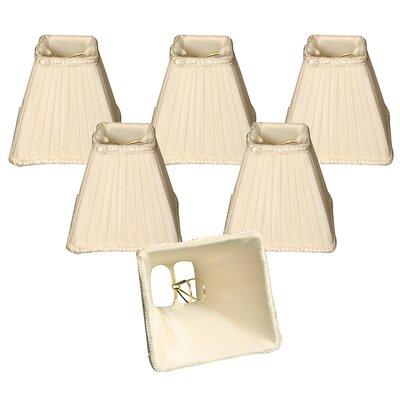 5 Silk Empire Lamp Shade Color: Eggshell