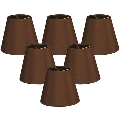 6 Silk Empire Lamp Shade Color: Brown