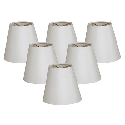5 Shantung Empire Candelabra Shade Color: White
