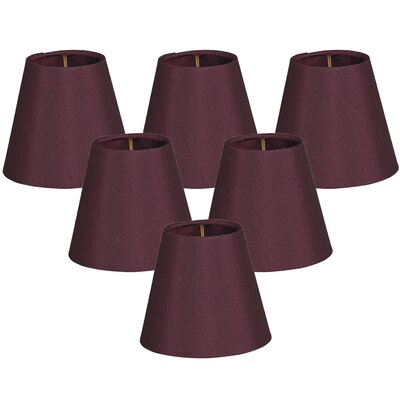 5 Shantung Empire Candelabra Shade Color: Maroon