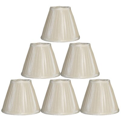 6 Silk Empire Lamp Shade Color: Cream