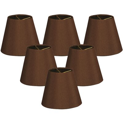 5 Shantung Empire Candelabra Shade Color: Brown