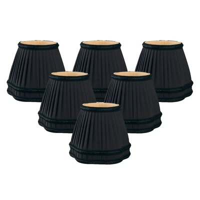 5 Silk Empire Candelabra Shade Color: Black