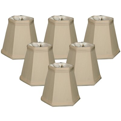 5 Shantung Empire Candelabra Shade Color: Beige