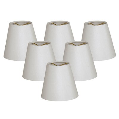 6 Silk Empire Lamp Shade Color: White