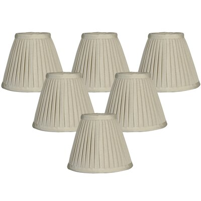 6 Silk Empire Lamp Shade Color: Oyster