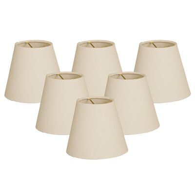 6 Linen Empire Lamp Shade Color: Sand