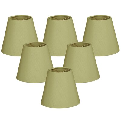 6 Silk Empire Lamp Shade Color: Pear Green