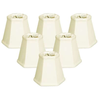 5 Shantung Empire Candelabra Shade Color: Eggshell