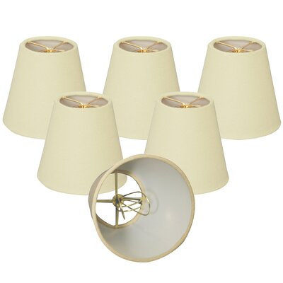 6 Linen Empire Lamp Shade Color: Eggshell