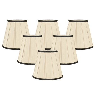 5 Silk Empire Candelabra Shade Color: White