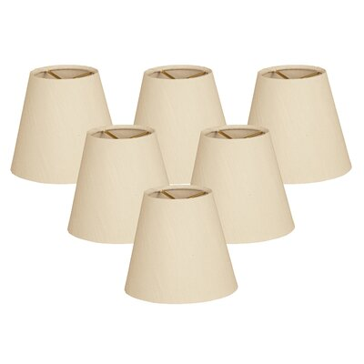 6 Silk Empire Lamp Shade Color: Beige