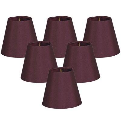 6 Silk Empire Lamp Shade Color: Maroon
