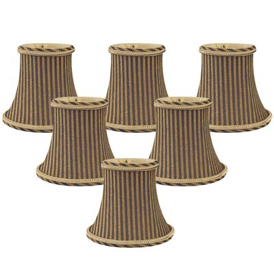 5 Silk Bell Candelabra Shade Color: Antique Gold/Brown