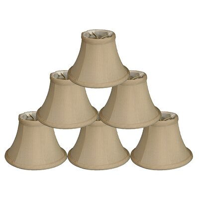 6 Silk Bell Candelabra Shade Color: Beige