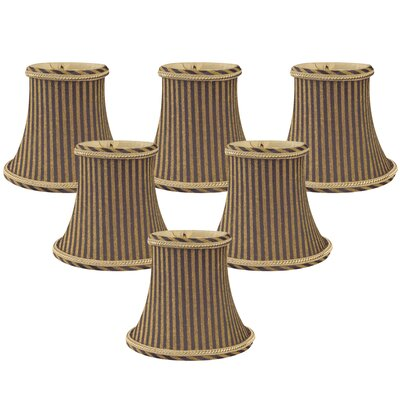 6 Silk Bell Candelabra Shade Color: Antique Gold/Brown