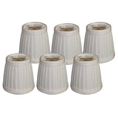 3.5 Silk Empire Candelabra Shade Color: White