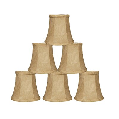 4 Faux Leather Bell Candelabra Shade