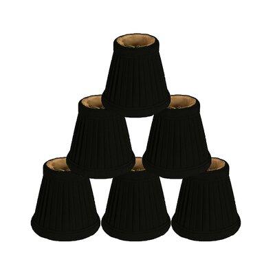 3.5 Silk Bell Candelabra Shade Color: Black/Gold