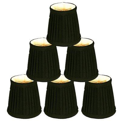 4.25 Silk Empire Candelabra Shade Color: Black/Gold